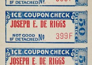 Ice coupon (ca 1920), courtesy of Stephen Borkowski.