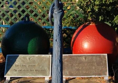 45-55 Captain Bertie's Way, display of William Boogar plaques, by David W. Dunlap (2010).