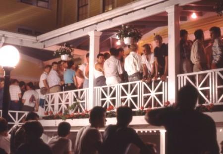 9-11 Carver Street, the Porchside Lounge, by David Jarrett (1989).