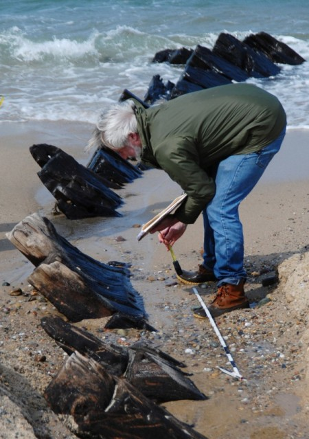 Steven Pendery at the Somerset wreck, by David W. Dunlap (2010).