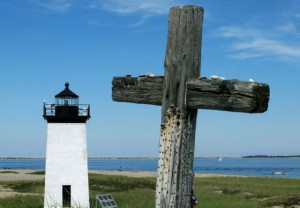 Darby Memorial and Long Point Light, by David W. Dunlap (2008).