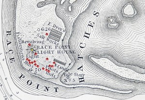 "Race Point on ""A Map of the Extremity of Cape Cod ""(1835), courtesy of John Dowd."