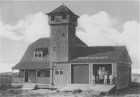 "Wood End Life-Saving Station, from ""The Life Savers of Cape Cod"" (1902)."