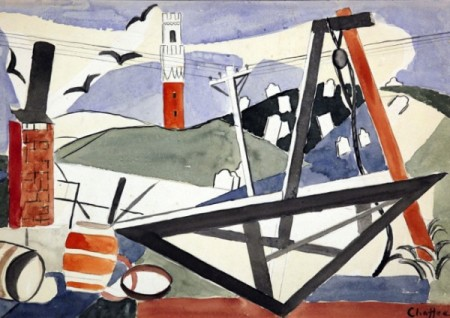 """""""Provincetown Tower,"""" by Oliver Newberry Chaffee (1931), courtesy of the Provincetown Art Association and Museum."""