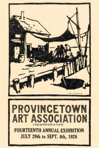 Catalog cover by Tod Lindenmuth, courtesy of the Provincetown Art Association and Museum.