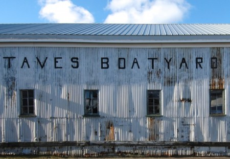 129R Commercial Street, Taves Boatyard, by David W. Dunlap (2012).