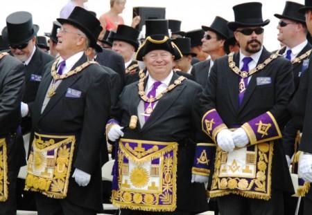Masonic delegation at the 2010 centenary of the Pilgrim Monument dedication, by David W. Dunlap (2010).