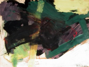 "Franz Kline's ""Untitled (#10),"" courtesy of the Provincetown Art Association and Museum."