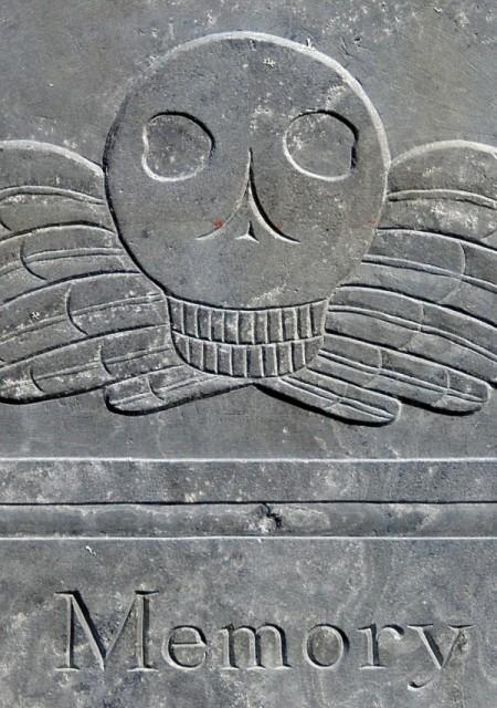 43 Winthrop Street, Thomas Killburn gravestone of 1794, by David W. Dunlap (2012).