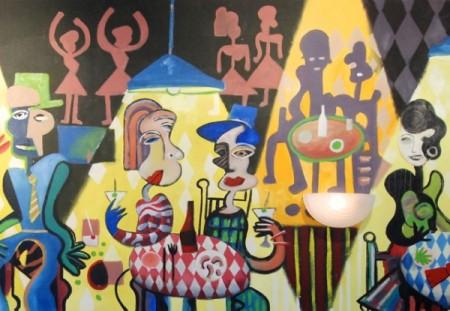 James Hansen's mural at Bubala's by the Bay, by David W. Dunlap (2012).