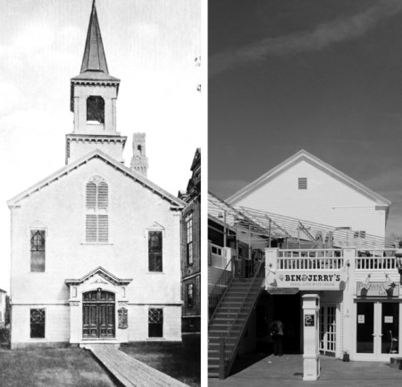 A side-by-side comparison makes it easier to understand how 256-258 Commercial Street was once a church.