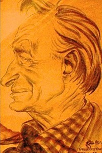 Jake Spencer's caricature of Harry Kemp, by David W. Dunlap (2009).
