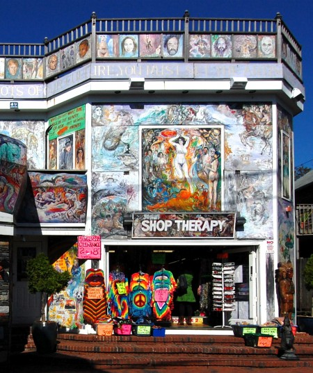 Bob Gasoi's murals at 344-346 Commercial Street, by David W. Dunlap (2009).