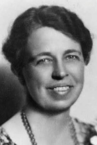 Eleanor Roosevelt, from the Library of Congress, Prints and Photographs Division.