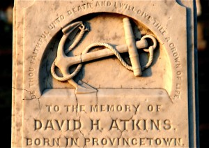 Capt. David Atkins grave site, by David W. Dunlap (2009).