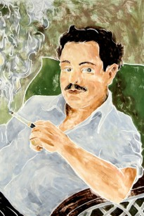 """Portrait of Tennessee Williams,"" by Bill Evaul (2012)."