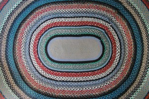 One of Mrs. Lema's hooked rugs, by David W. Dunlap (2011).