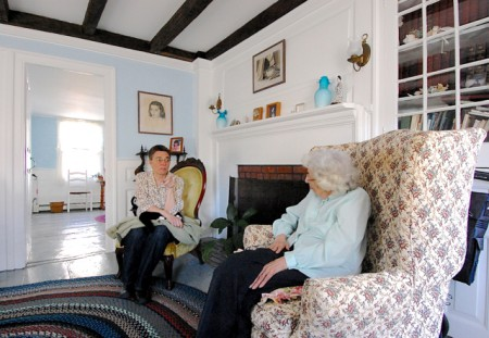 Jessica Lema, home at 10 Cudworth Street with Susan Leonard, by David W. Dunlap (2011).