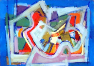 """City Abstraction in Blue"" (1960), by Victor De Carlo, from the Provincetown Art Association and Museum."