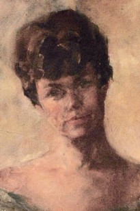 Carol (Whorf) Westcott, in a self-portrait.