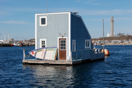 Buddy Johnson (above, by Joel Grozier), and his houseboat, by David W. Dunlap.
